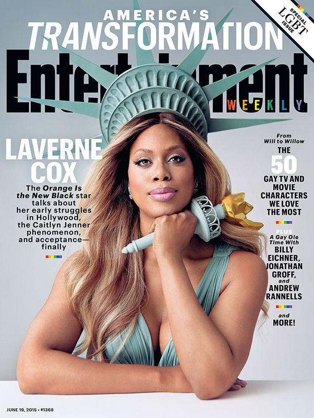 "In an interview with Entertainment Weekly editor Henry Goldblatt on Friday, Orange is the New Black star Laverne Cox explained how she had some trepidation about posing on the cover of EW dressed as the Statue of Liberty.  ""I initially didn't think it would work,"" Cox said while appearing on EW Radio. ""It felt a little cliche."" But the actress said the props she was given turned everything around. ""It just turned out to be amazing. I really love it."""