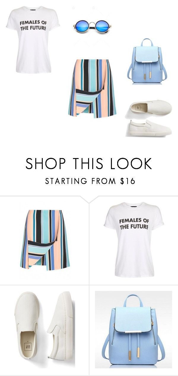 """Полосатая юбка_1"" by christinamaker on Polyvore featuring мода, Opening Ceremony, Topshop и Gap"