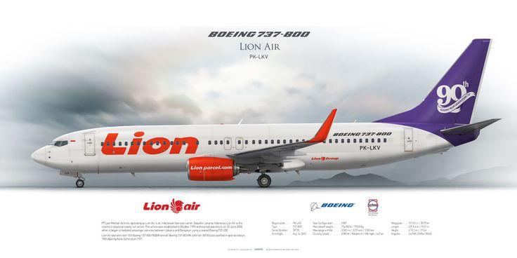 Boeing 737-800 Lion Air PK-LKV | www.aviaposter.com | #airliners #aviation #jetliner #airplane #pilot #aviationlovers #avgeek #jet #sideplane #airport #boeing #b737