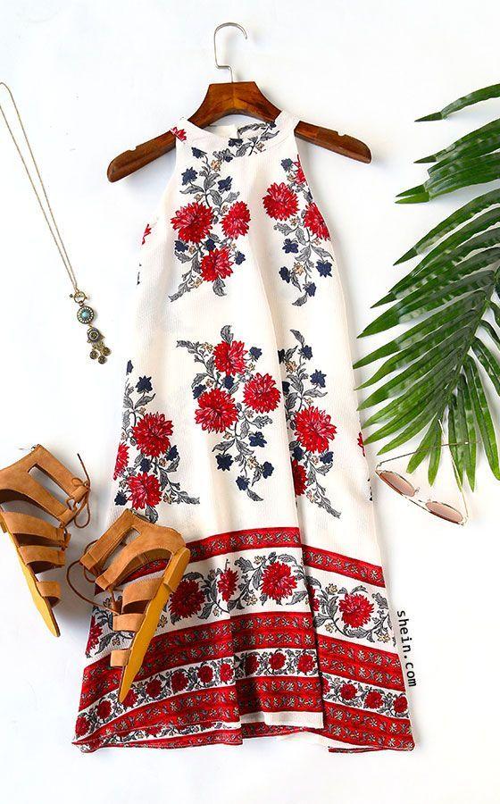 Moda anti-idade rejuvenesce mais que qualquer creme de beleza ! O efeito é imediato. Um belo vestido florido transforma e agrada.