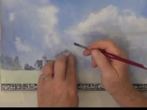 Sky and clouds in watercolor part 2