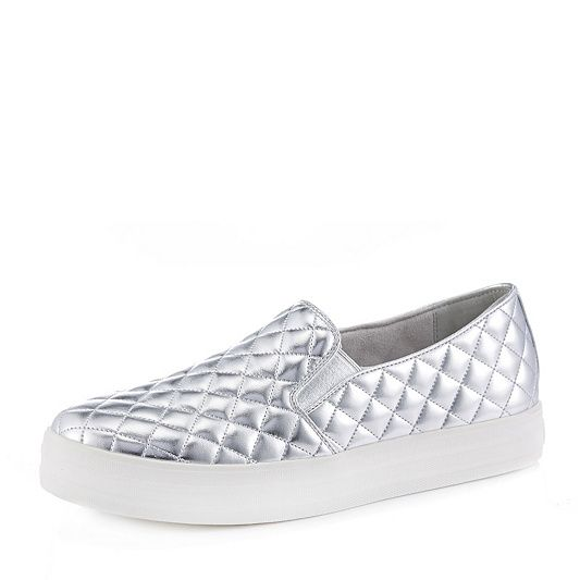 colours and striking good texture cheapest price Skechers Street Double Up Duvet Quilted Platform Slip On ...