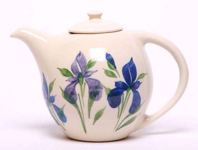 Ceramic Teapot - Field Of Iris