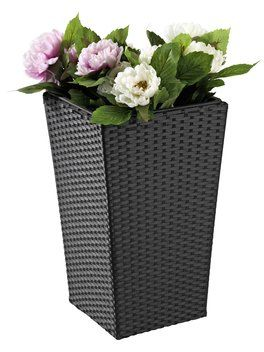 Flower pot BLOMMOR 31x31x50 rattan black