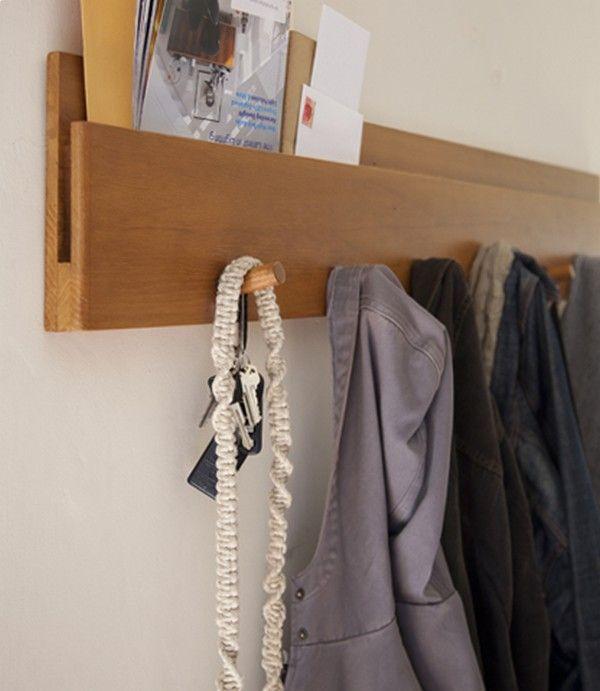 Muir Wall Coat Hanger With Slot For Papers And Envelopes Hall De Entrada Percheros De Pared Percheros