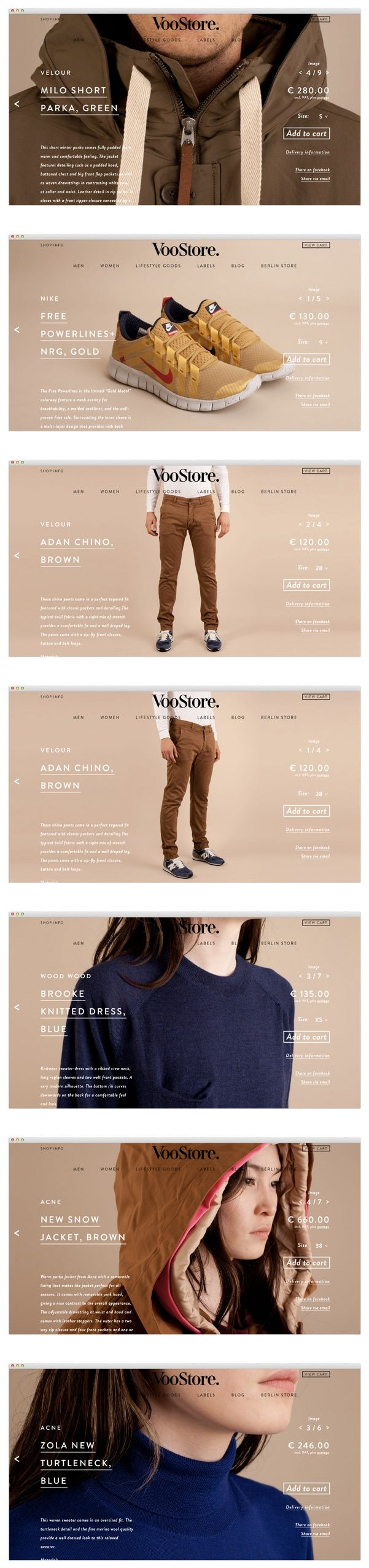 VooStore. | #webdesign #it #web #design #animation #layout #userinterface #website #webdesign found on fromupnorth.com pinned by www.BlickeDeeler.de | Visit our website www.blickedeeler.de/leistungen/webdesign