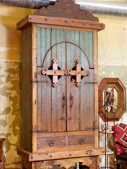 Antiqued Mexican Armoire