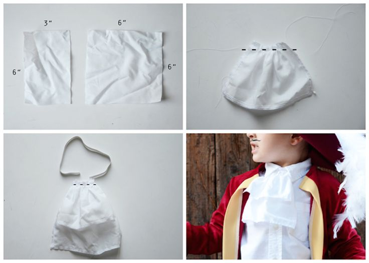 Captain hook tutorial Love the idea to make a ruffly neck piece and maroon leggings with high white socks