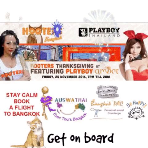 hOOters V's Playboy Bunnies Thanksgiving Dance off  Nov 2016 at rootop Pool Bar Bangkok ...  7 hrs of party culture