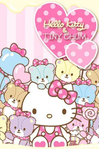 Hello Kitty Tiny Chum Iphone Wallpapers Hello Kitty Pinterest