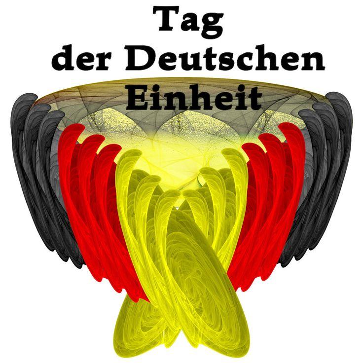 Fractal für die Tag Der Deutschen Einheit