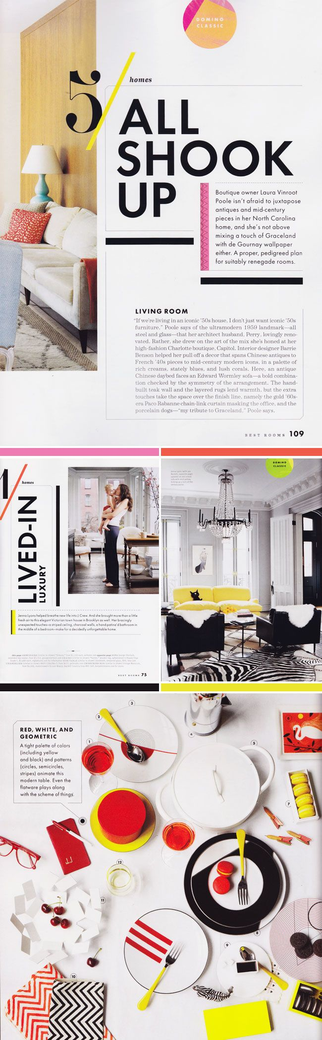 Domino Magazine Special Edition Best Of Rooms | the colors, contrast, and chunky shapes look so nice together.
