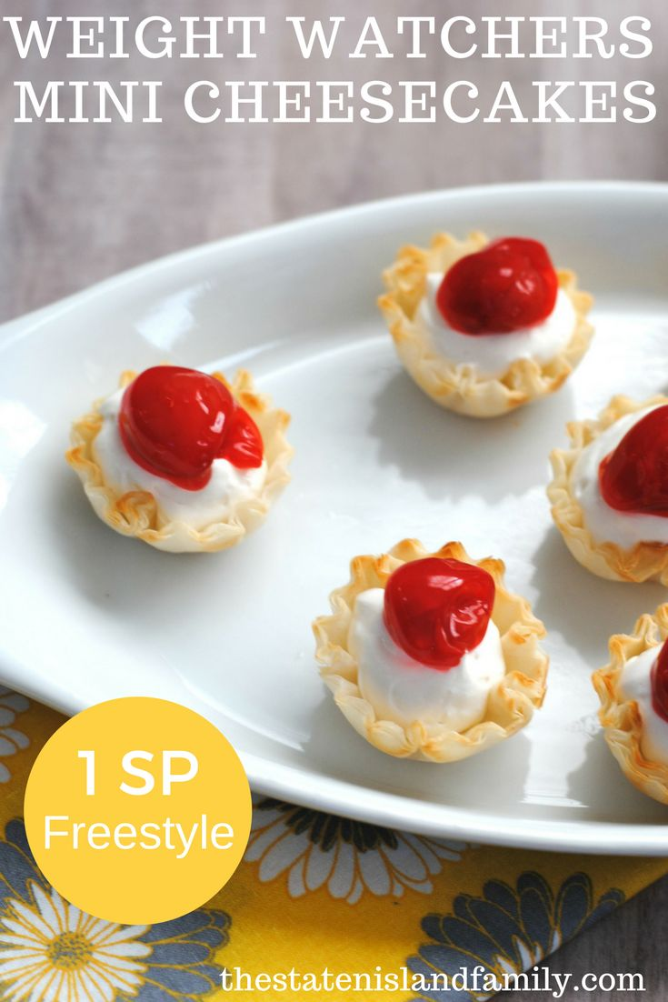 Check out this Weight Watchers mini Cheesecake recipe- perfect for little kids ( and us parents)