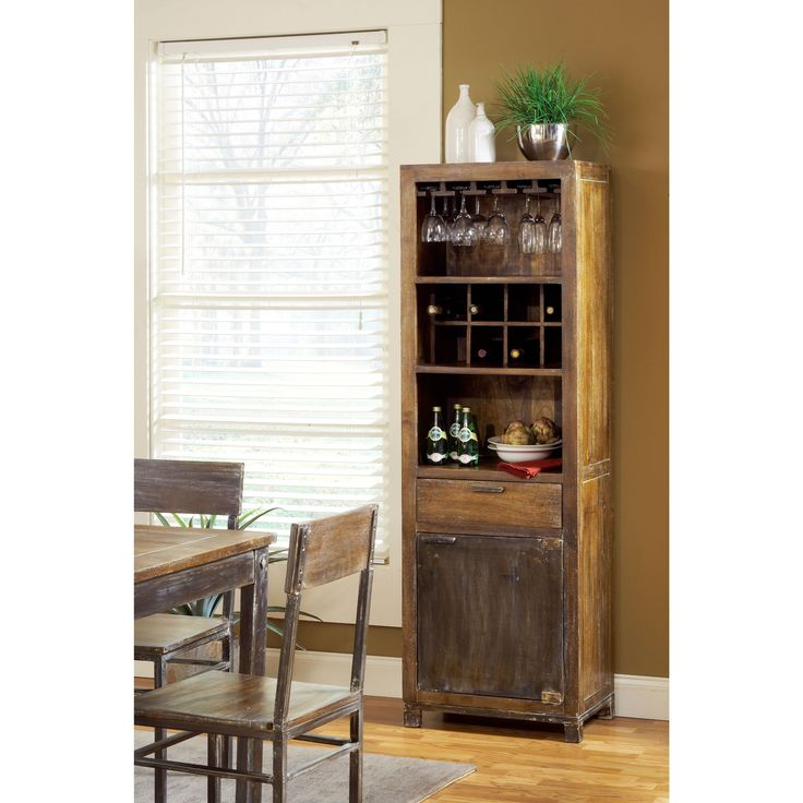 Domusindo Rustic Wooden Wine Tower