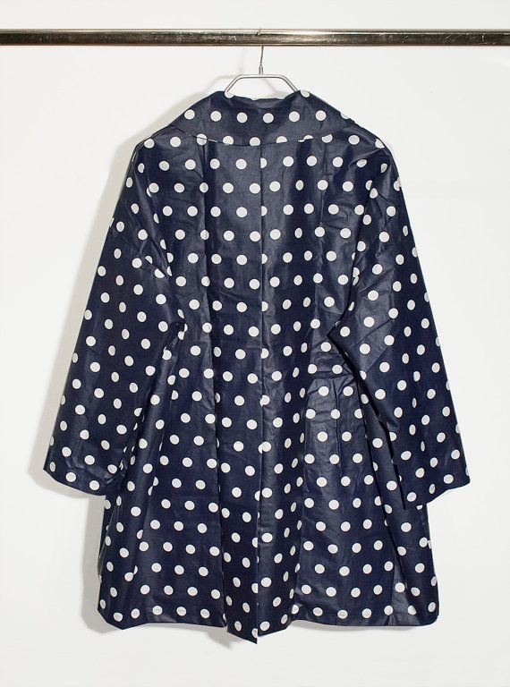 Long pois waterproof raincoat by DominoModa on Etsy