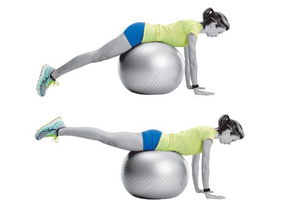 Image result for swiss ball reverse hip raise