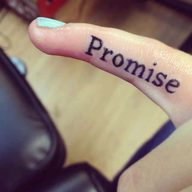 "Tattoo Craving Quotes: First Tattoo! ""pinky Promise"""
