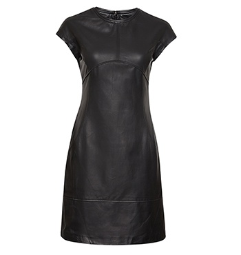 David Lawrence | DL Atelier - DL Atelier - Luxury Leather Seam Detail Dress