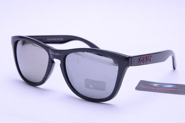 Oakley Frogskins Sunglasses Black Frame Silver Lens 0408 [ok-1408] - $12.50 : Cheap Sunglasses,Cheap Sunglasses On sale