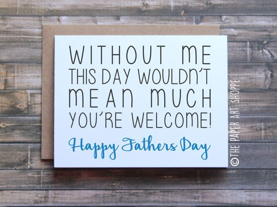 Funny Fathers Day Card, Happy fathers day card, fathers day card from son, fathers day card from daughter