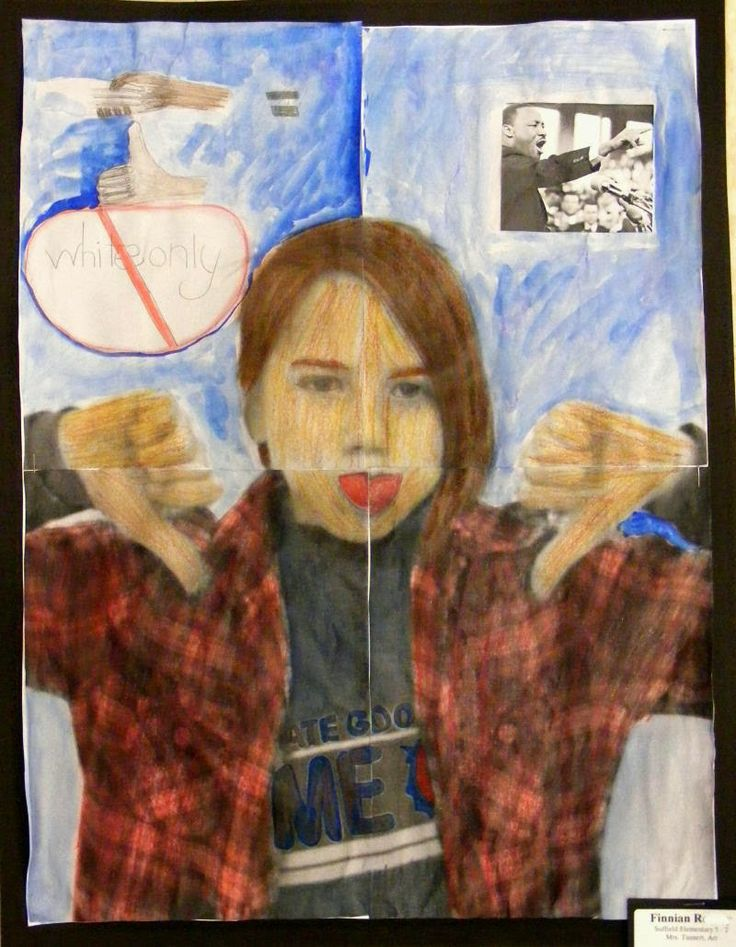 Field Elementary Art Blog!: 5th Grade Mixed Media Portraits with a Social Mess...