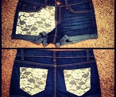 One of my favorite things to do with lace and a plain pair of shorts.