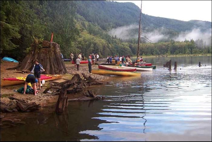 Powell Forest Canoe Route near Powell River, BC - a canoeing, sea kayaking and hiking trail