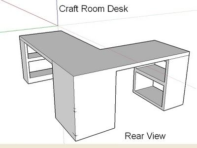 Craft room table...for a small corner space. It could be a laundry folding station as well. Hunny, build this for me please.