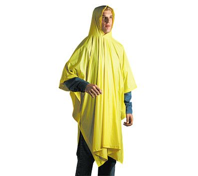 I keep a disposable poncho in my pack in case I get caught in an unexpected storm.