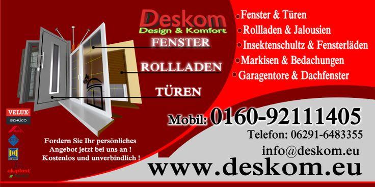 banner sprzedaży okien drzwi - niemcy