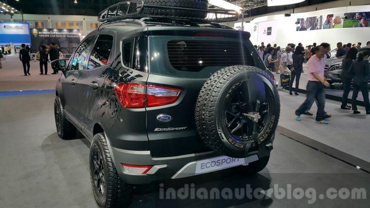Ford EcoSport custom rear three quarters close at 2015 Thailand Motor Expo