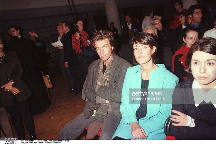 Philippe Caroit, Caroline Tresca at theLanvin Menswear Fashion Show 1997.