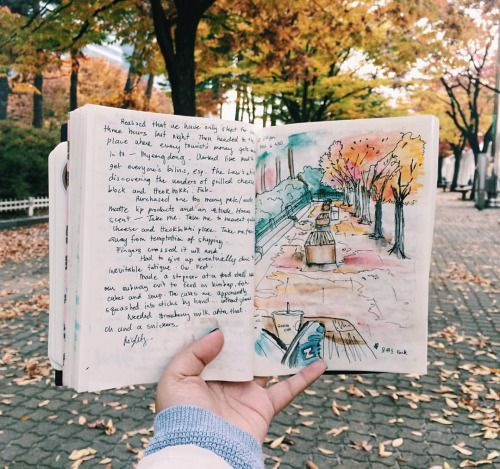 Blogging and drawing/art and writing/observational journal