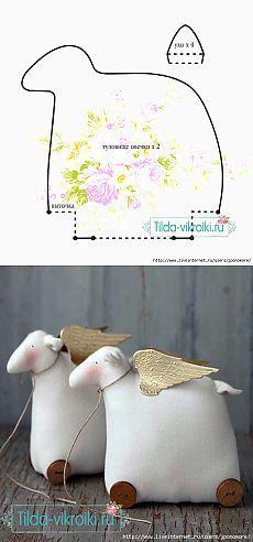 Шьем милую овечку к НовомуГоду (выкройки+МК)