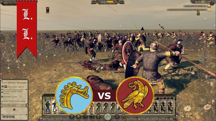 Attila Total War - Online Battle - 1vs1 Danes vs Western Roman Empire (#...
