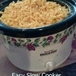 Ingredients: 16oz. box of macaroni noodles 1 can of 13 oz. evaporated milk 1/2 C butter 1 1/2 C milk one complete block of Velveeta Cheese (the larger 16oz. block) 1 Tsp. Salt 1/4 Tsp Pepper Directions: 1. Cook and drain macaroni noodles 2. Place rest of ingredients in slow cooker 3. Cook 4 hours [...]