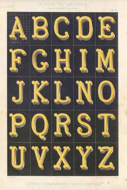 abecedario vintage