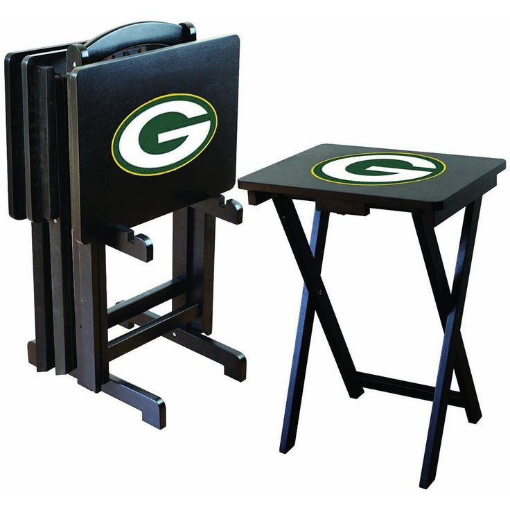 Green Bay Packers NFL TV Tray Set with Rack