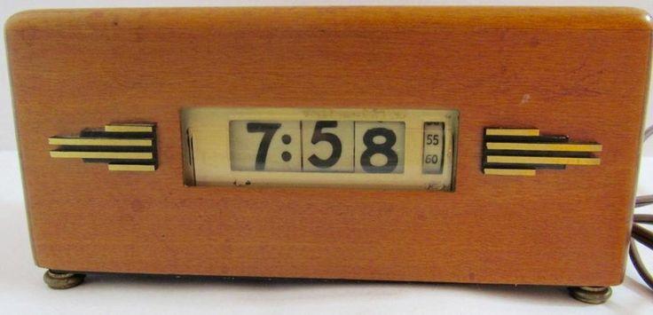 VINTAGE LAWSON ELECTRIC CLOCK P-40 ART DECO STYLE 219 ~ WORKING FLIP CLOCK SLOW    eBay