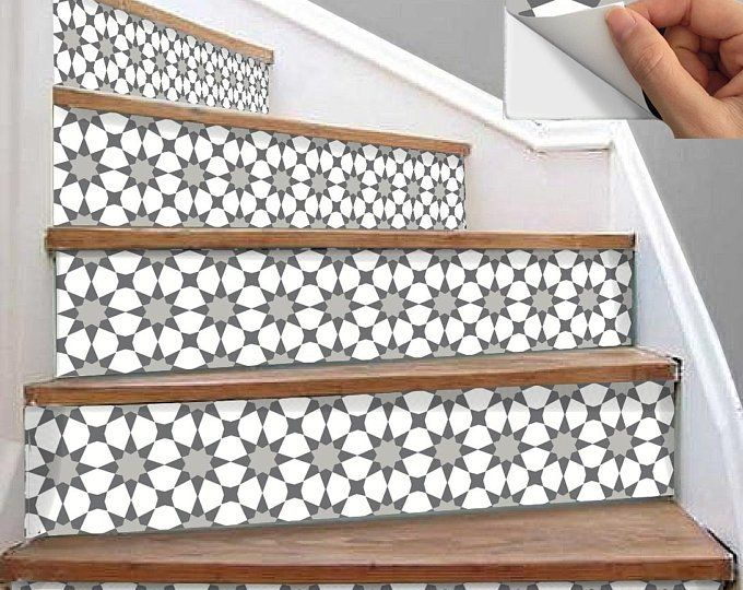 Stair Riser Vinyl Strips 15 Steps Removable Sticker Peel