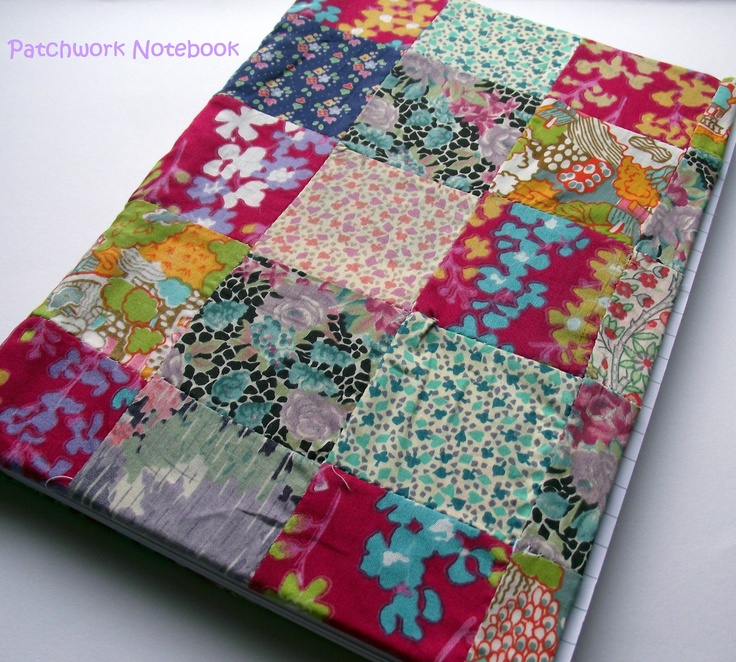 Vintage Liberty Fabric Patchwork Notebook