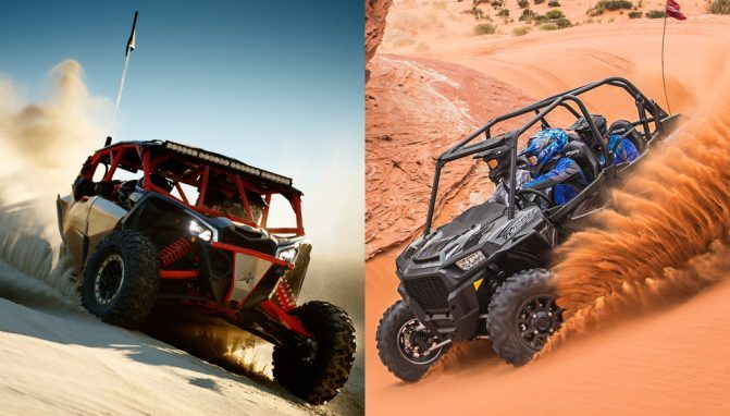 Can-Am Maverick X3 MAX X RS vs. Polaris RZR XP 4 Turbo EPS How do these four-seat Sport UTVs stack up on paper?
