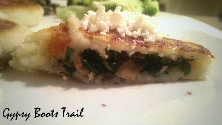 Spinach and Mushroom Stuffed Potato Cakes Recipe from Gypsybootstrail.weebly.com