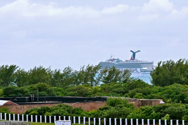 Seen departing Key West, our friend Carnival Victory