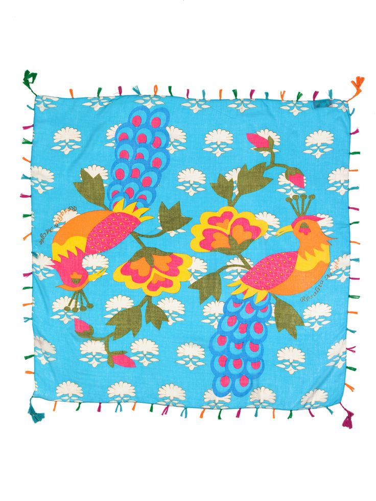 #pashminaminas #pashmina #fular #panuelo #pashminamarina #birdspashmina #birds #pajarospashmina #pavoreal #summerpashmina #animal www.rosalitamcgee.com