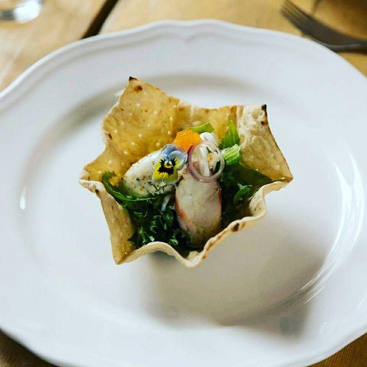 King crab salad at our restaurant Aurora Estate