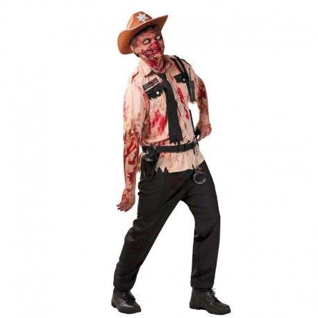 Disfraces Halloween   Disfraz de policia zombie. Contiene camisa ensangrentada y con adornos y corbata. Talla M/L. 17,95€ #policia #zombie #disfrazpolicia #disfrazzombie #disfraz #halloween #disfrazhalloween #disfraces