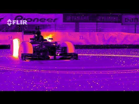 Wärmebildkamera zeigt die brennenden Reifen der Formel 1 Autos - http://www.dravenstales.ch/waermebildkamera-zeigt-die-brennenden-reifen-der-formel-1-autos/
