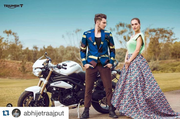 Sanja n Nigel for triumph motorcycle #Repost @abhijetraajput with @repostapp.  Triumph Motorcycles India  Abhijet Raajput Photography 2016 #fashion #photoshoot #bikes #model #models #triumph #motorcycle #India #day #blue-sky #favourite #shoot #instalike #instagramers #instagram #luxury #photography #international #instaupload#teamtoabh#toabhmodel#