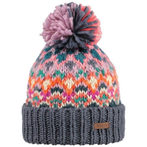 Barts Women's Carmen Ski/Snowboard Beanie Bobble Hat, Dark Heather ❤ liked on Polyvore featuring snowboard
